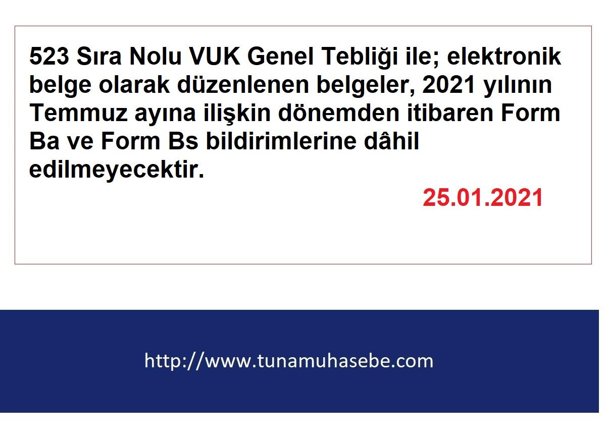Ba Bs Formlarında Yeni Düzenleme Temmuz Ayında Başlıyor 25.01.2021
