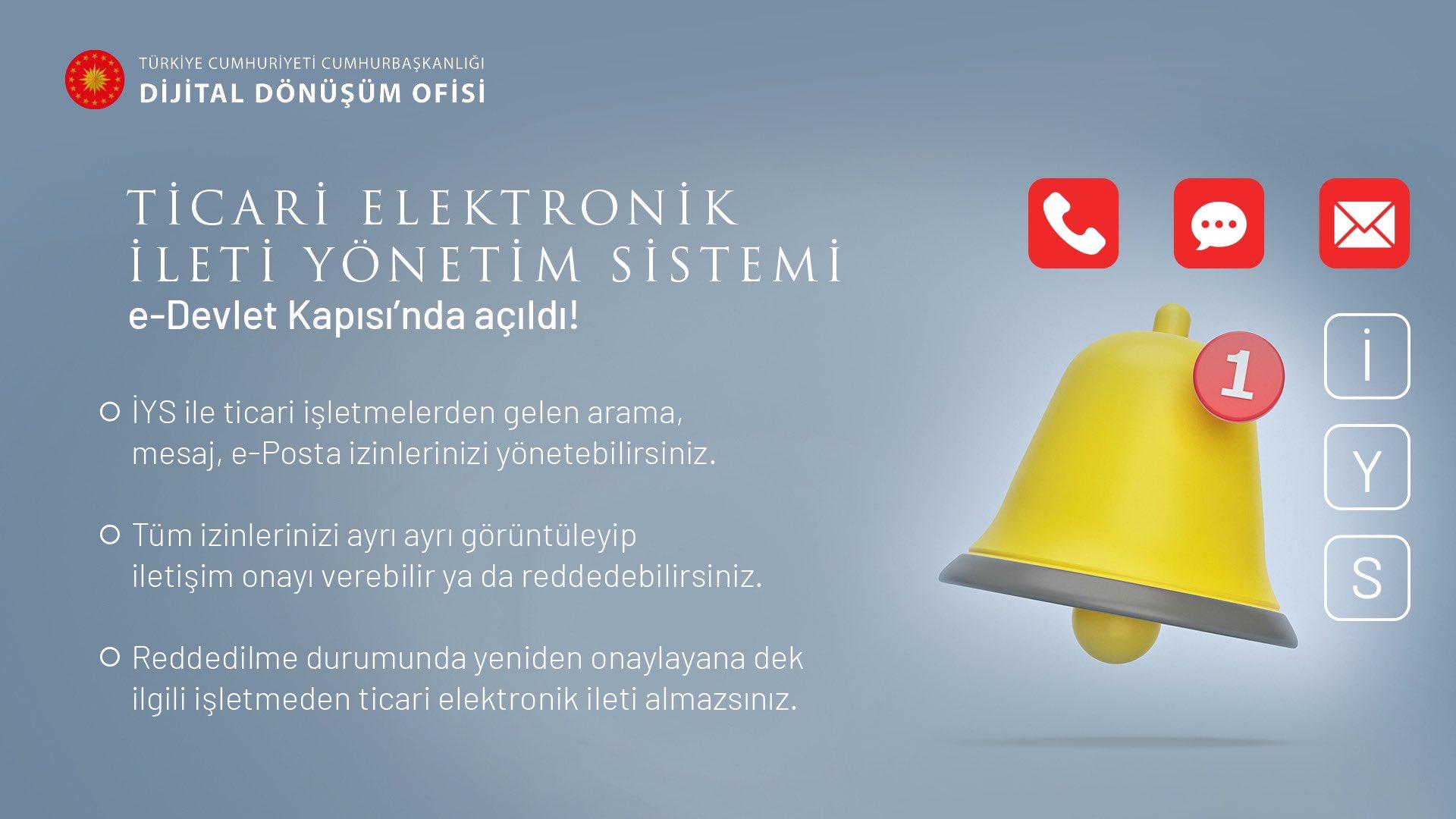 İstenmeyen aramaları engellemek için Ticari Elektronik İleti Yönetim Sistemi, e-Devlet'te kullanıma açıldı